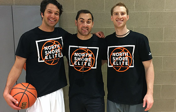 North Shore Elite Basketball Clinic Coaches (pictured from left to right): Sean Wallis, Zack Meuser and Chris Wroblewski