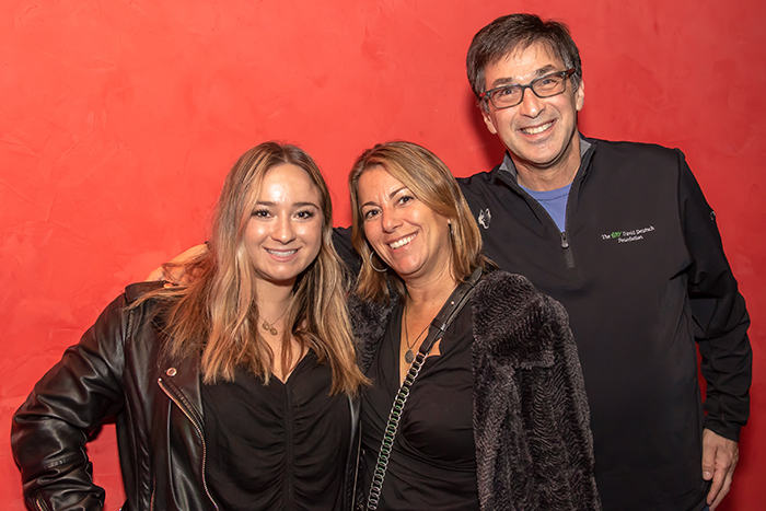 Katie, Joanne and David Duckler at the Rockin' for Rory event