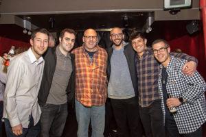Rickey Deutsch, Tony Shapiro, Michael Greenfield, Ross Miller, Adam Robinson, Robbie Deutsch at the Rockin' for Rory event