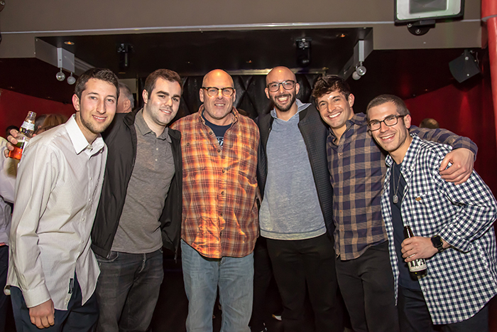 Rickey Deutsch, Tony Shapiro, Michael Greenfield, Ross Miller, Adam Robinson, Robbie Deutsch at the Rockin' for Rory event