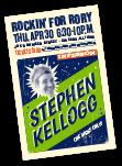 stephen kellogg invitation cover design